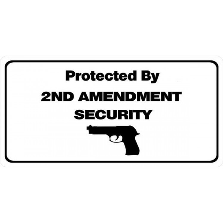 Protected By 2nd Amendment Photo License Plate