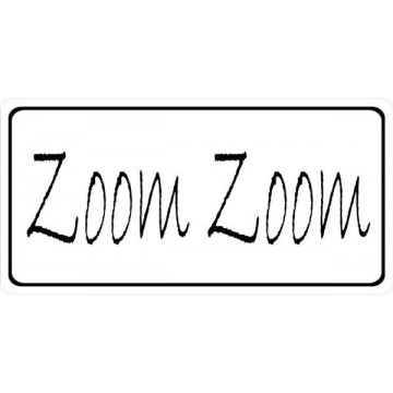 Zoom Zoom Photo License Plate