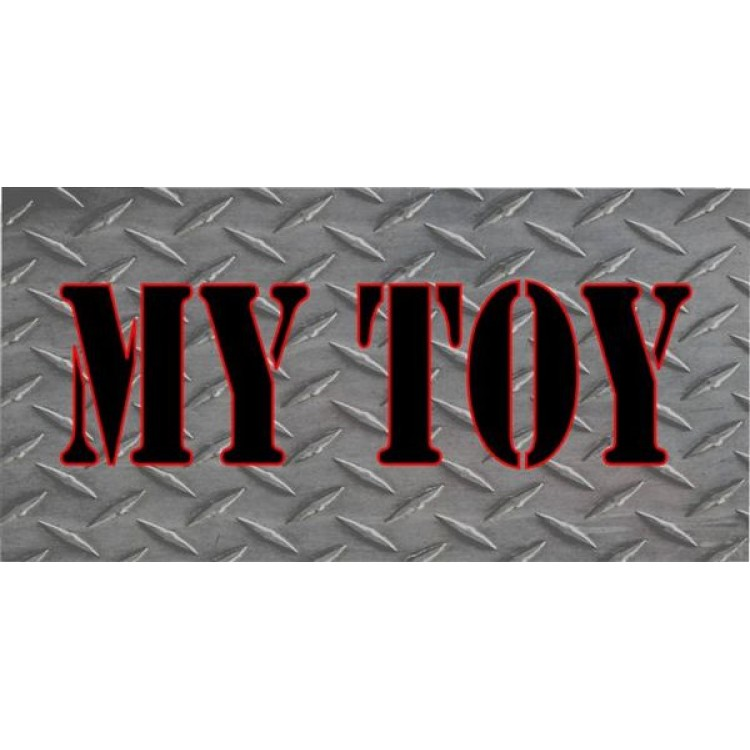 My Toy Diamond Plate Photo License Plate