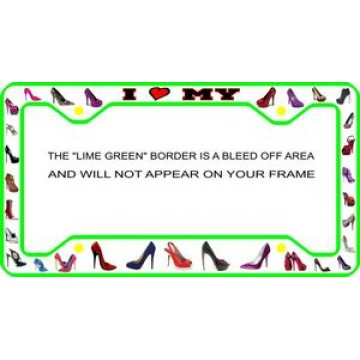 Shoes Shoes Shoes Photo Metal License Plate Frame