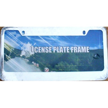 Blank Smooth Chrome 2 - Hole Metal License Plate Frame