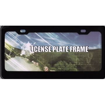 Black Anodized Aluminum License Plate Frame