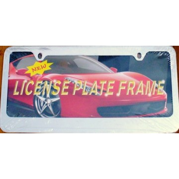 Blank Smooth Chrome 2 - Hole License Plate Frame
