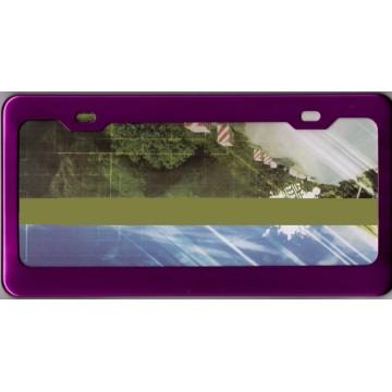 Purple Anodized Aluminum License Plate Frame