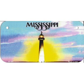 Mississippi State Look A Like Metal Bicycle License Plate