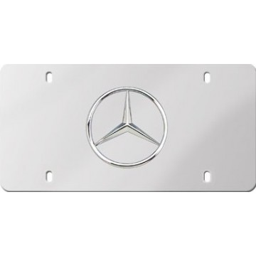Mercedes Benz Stainless Steel License Plate