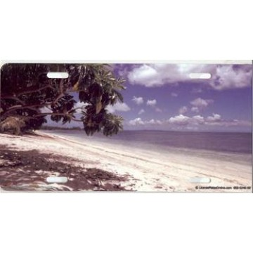 Beautiful Beach Scene Photo License Plate