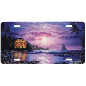 """Temple of Light"" License Plate"