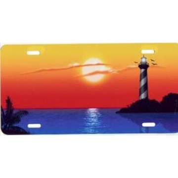 Hatteras Lighthouse Airbrush License Plate