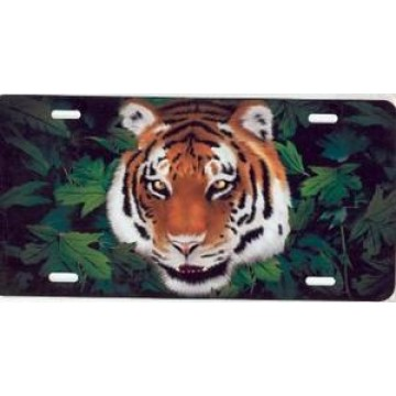 Bengal Tiger Centered Airbrush License Plate