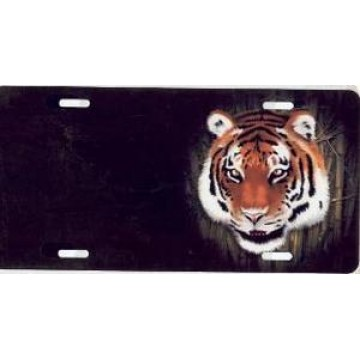 Bengal Tiger Offset Airbrush License Plate