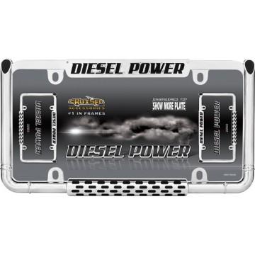 Diesel Power Chrome License Plate Frame