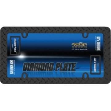 Black Diamond Plate License Plate Frame
