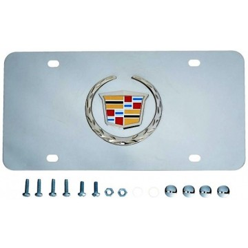 Cadillac Chrome Stainless Steel Logo License Plate
