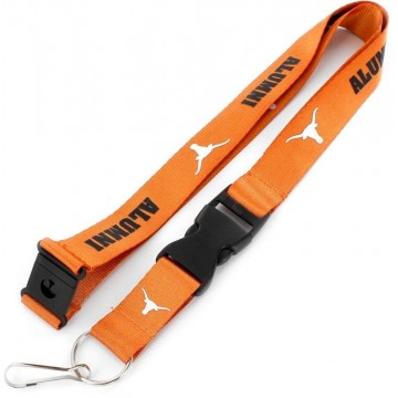 Texas Longhorns Alumni Lanyard With Safety Latch