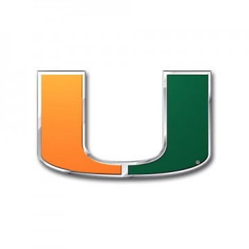 Miami Hurricanes Full Color Auto Emblem