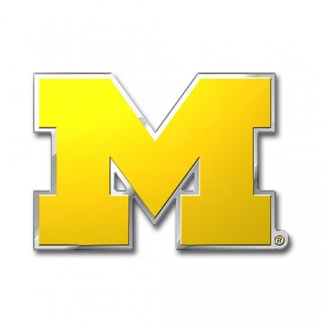 Michigan Wolverines Full Color Auto Emblem