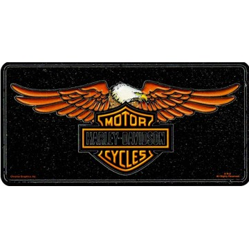 Harley-Davidson Logo With Eagle License Plate