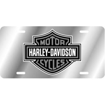 Harley-Davidson Logo Silver Laser License Plate