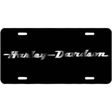 Harley-Davidson Text Black Laser License Plate