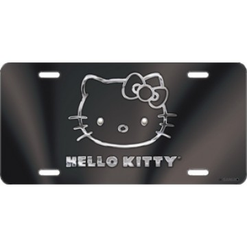Hello Kitty Black Laser License Plate