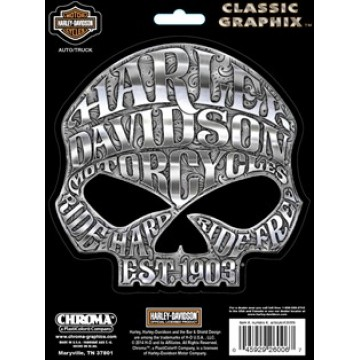 Harley-Davidson - Willie G. Skull Medium - Classic Graphix Decal