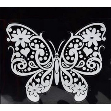 White Butterfly Clingbling Decal