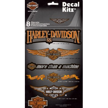 Harley-Davidson 8pc Vinyl Decal Kit