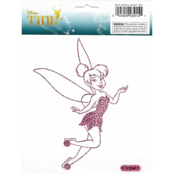 Tinkerbell Pink Glitter Die Cut Vinyl Decal