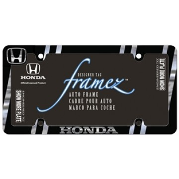 Honda Black And Chrome Metal License Plate Frame