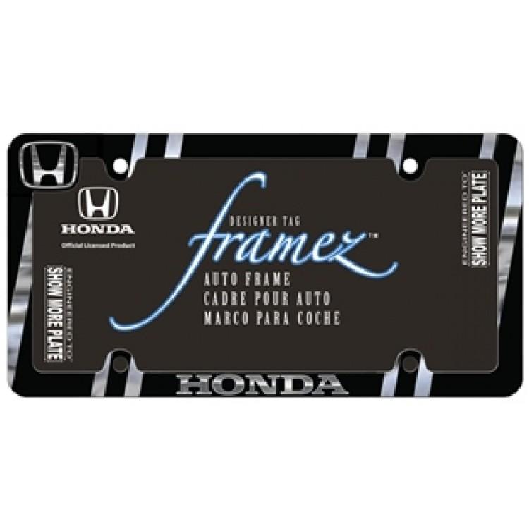 Honda Black And Chrome Metal License Plate Frame