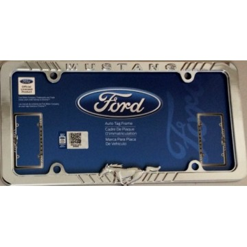 Mustang Chrome License Plate Frame
