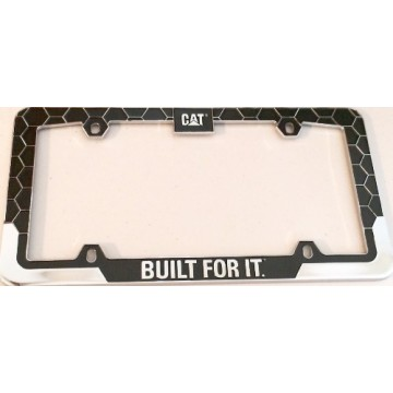 Caterpillar Chrome And Black License Plate Frame