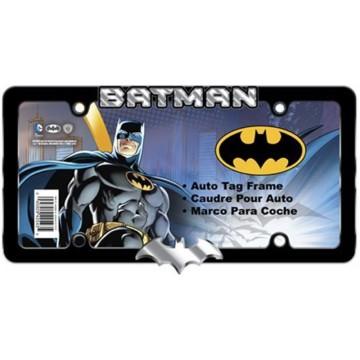 Batman Text And Logo Black License Plate Frame