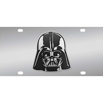 Darth Vader 3D Stainless Steel License Plate