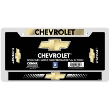 Chevrolet Domed Metal License Plate Frame