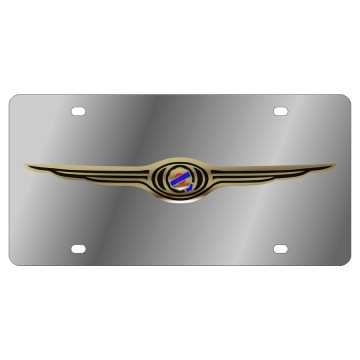 Chrysler Gold Logo Stainless Steel License Plate