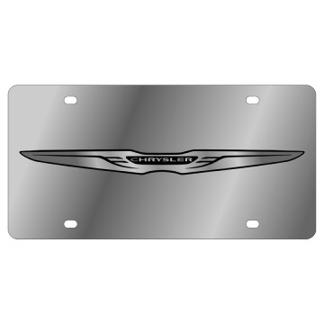 Chrysler New Logo Stainless Steel License Plate