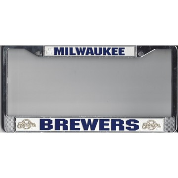 Milwaukee Brewers Chrome License Plate Frame