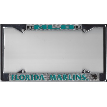 Florida Marlins Chrome License Plate Frame