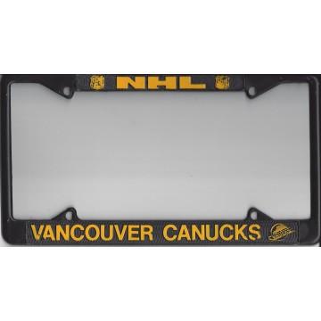 Vancouver Canucks Black Metal License Plate Frame
