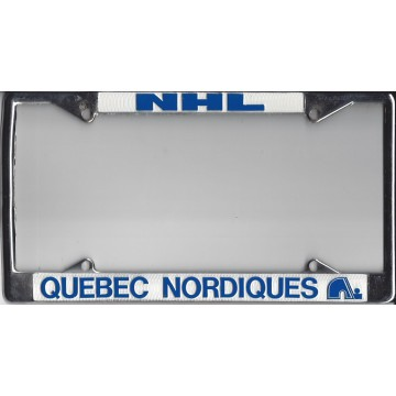 Quebec Nordiques Chrome License Plate Frame