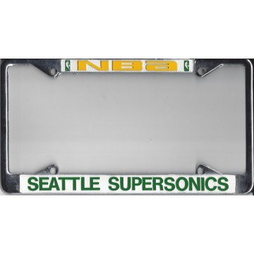 Seattle Supersonics Chrome License Plate Frame