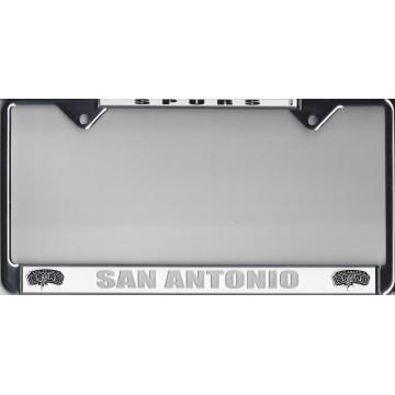 San Antonio Spurs Thin Top Chrome  License Plate Frame