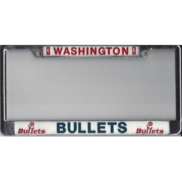 Washington Bullets Chrome License Plate Frame