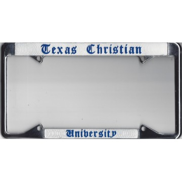 TCU Texas Christian University Chrome License Plate Frame