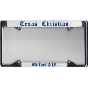TCU Texas Christian University Chrome License Plate Frame