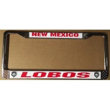 New Mexico Lobos Chrome License Plate Frame