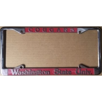 Washington State Cougars Chrome License Plate Frame