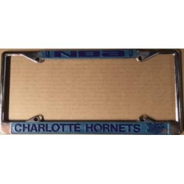 Charlotte Hornets Chrome License Plate Frame